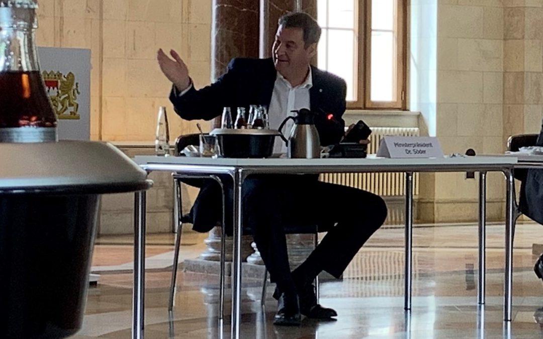 Besuch im Staatsministerium – Ministerpräsident Markus Söder