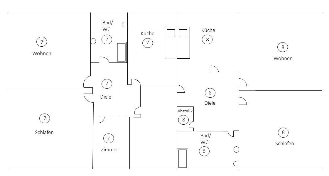 Beispiel für Aufteilungsplan